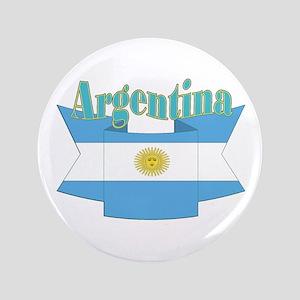 "Argentina ribbon 3.5"" Button"