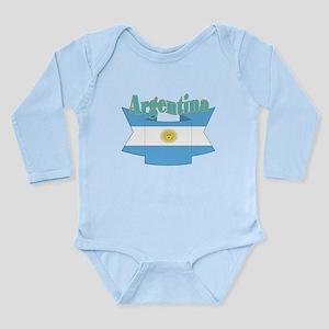 Argentina ribbon Long Sleeve Infant Bodysuit