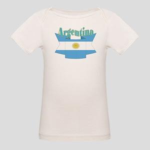 Argentina ribbon Organic Baby T-Shirt