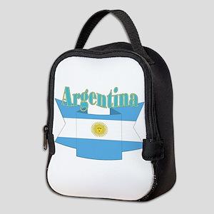 Argentina ribbon Neoprene Lunch Bag