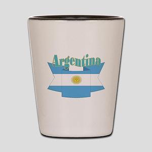 Argentina ribbon Shot Glass