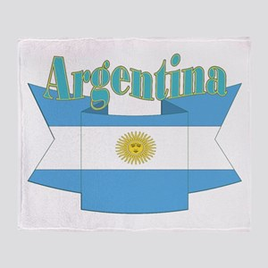 Argentina ribbon Throw Blanket