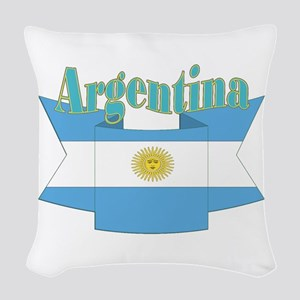 Argentina ribbon Woven Throw Pillow