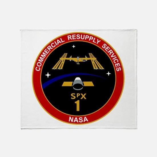 SpX-1 Logo Throw Blanket