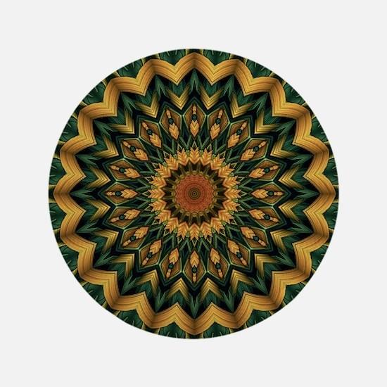 "Nature's Mandala 3.5"" Button"