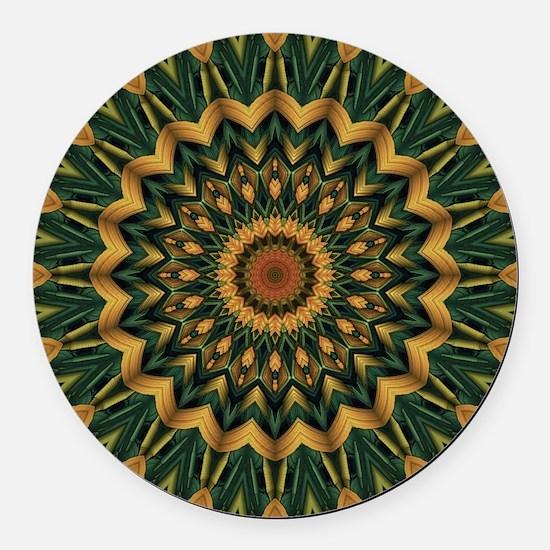 Nature's Mandala Round Car Magnet