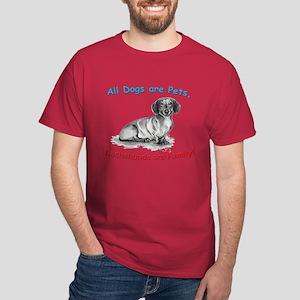 Dachshund Dachshunds Family Dark T-Shirt