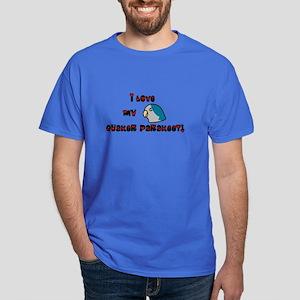 Anime Blue Quaker Dark T-Shirt