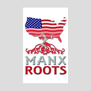 Manx American Roots Sticker