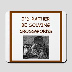 crosswords joke Mousepad