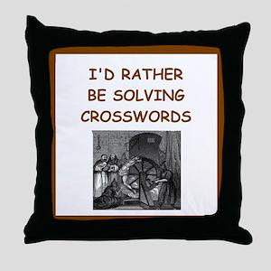 crosswords joke Throw Pillow