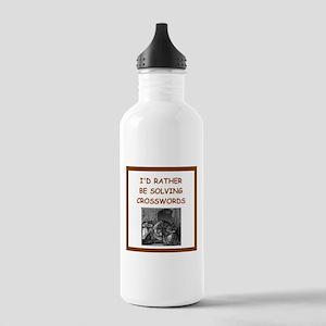 crosswords joke Water Bottle