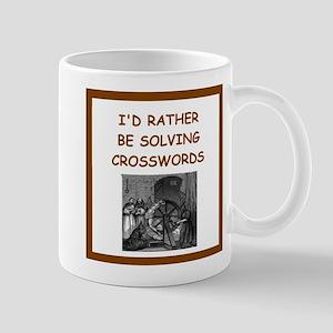 crosswords joke Mugs