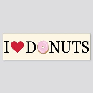 I Love Donuts Bumper Sticker