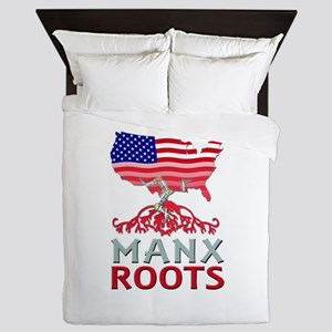 Manx American Roots Queen Duvet