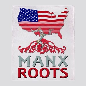 Manx American Roots Throw Blanket