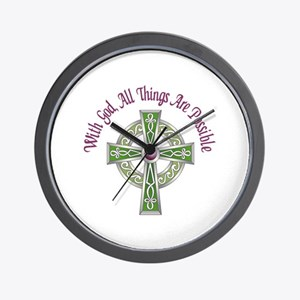 ALL THINGS POSSIBLE Wall Clock