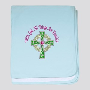 ALL THINGS POSSIBLE baby blanket