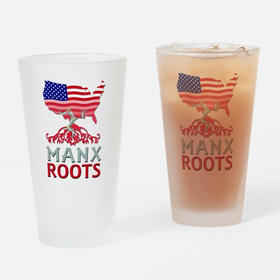 Manx American Roots Drinking Glass