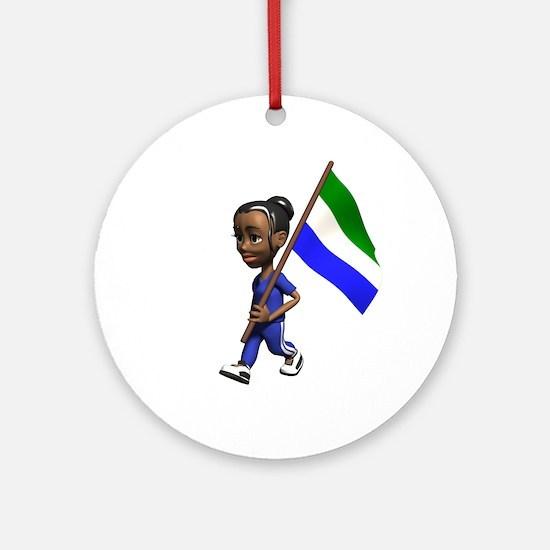 Sierra Leone Girl Ornament (Round)