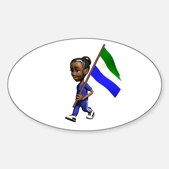 Sierra Leone Girl Oval Decal