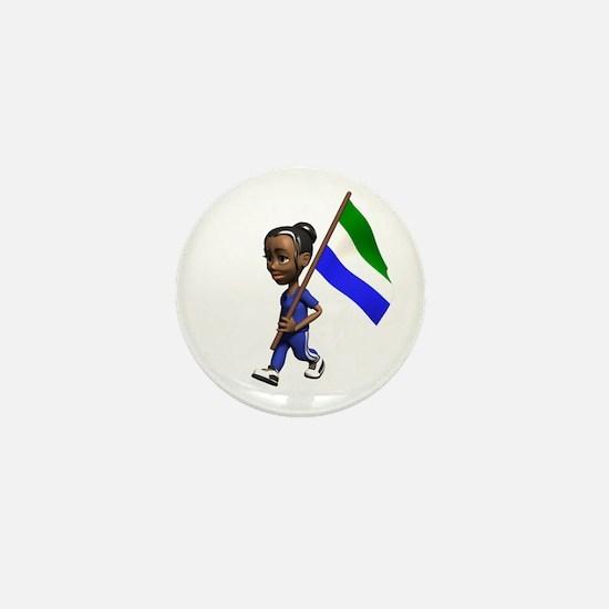 Sierra Leone Girl Mini Button
