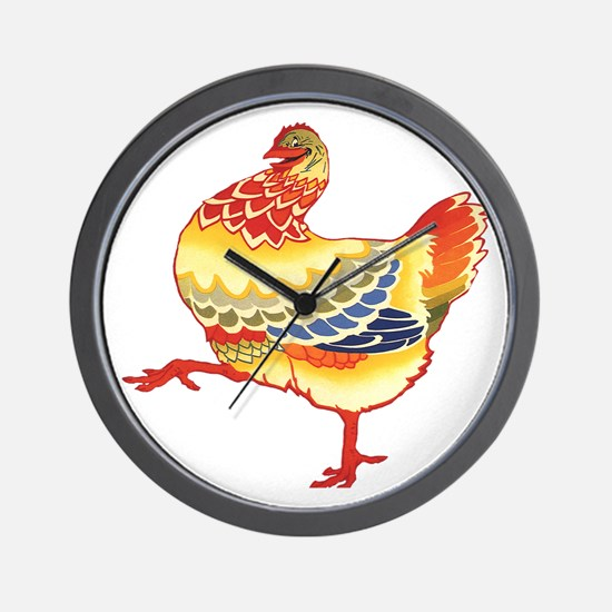 Vintage Chicken Wall Clock