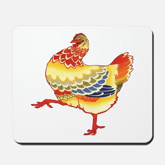 Vintage Chicken Mousepad
