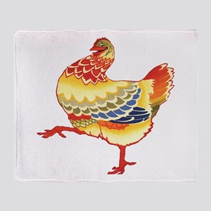 Vintage Chicken Throw Blanket