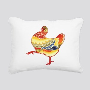Vintage Chicken Rectangular Canvas Pillow