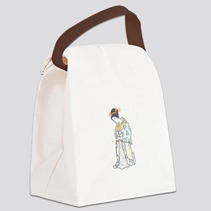 JAPANESE WOMAN LARGE OPEN Canvas Lunch Bag