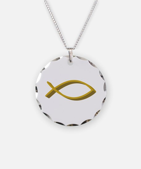 CHRISTIAN FISH FULL FRONT Necklace