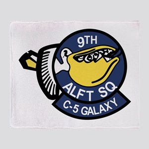 9th Airlift Squadron Throw Blanket