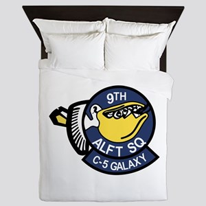 9th Airlift Squadron Queen Duvet