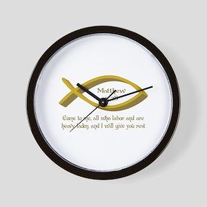 MATTHEW BIBLE VERSE Wall Clock