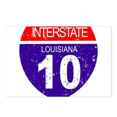 Interstate 10 - Louisiana Postcards (Package of 8)