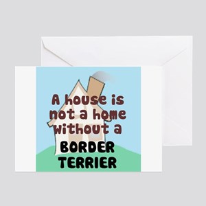 Border Terrier Home Greeting Cards (Pk of 10)