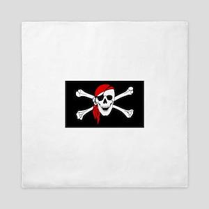 pirate-red Queen Duvet