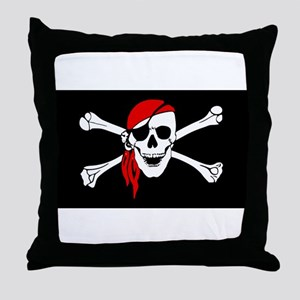 pirate-red Throw Pillow