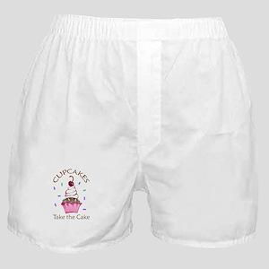 CUPCAKES TAKE THE CAKE Boxer Shorts