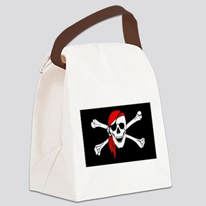pirate-red Canvas Lunch Bag