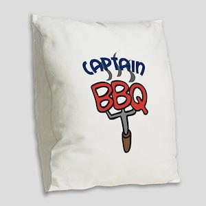 BBQ CAPTAIN Burlap Throw Pillow