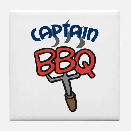 BBQ CAPTAIN Tile Coaster