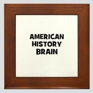 American History Brain Framed Tile