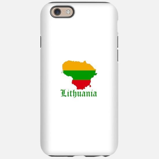 Lithuania Map Designs iPhone 6/6s Tough Case