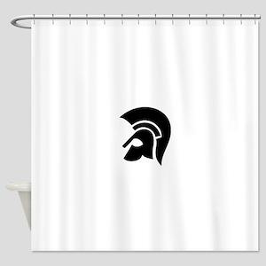 warrior helmet Shower Curtain