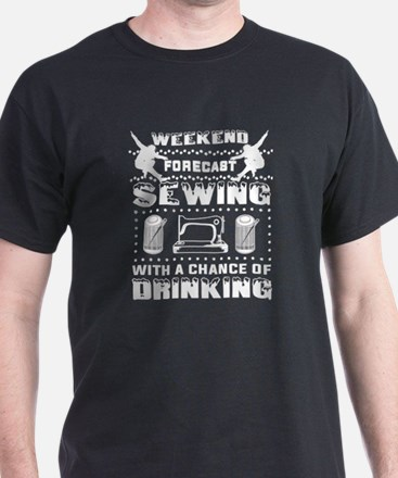 Weekend Forecast Sewing T Shirt T-Shirt