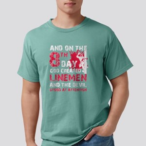On The 8th Day God Created Linemen T Shirt T-Shirt