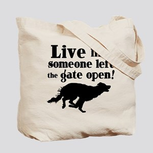 OPEN GATE, (both sides) Tote Bag