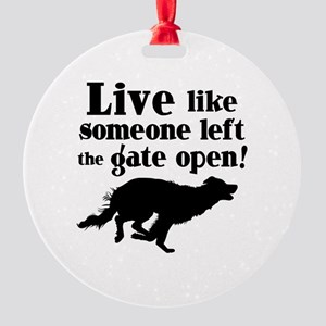 OPEN GATE Round Ornament
